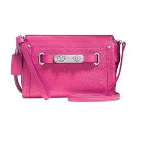 New Coach Pink Dahlia Pebbled Leather Purse 53032